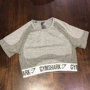 Gymshark flex short sleeve crop top size medium